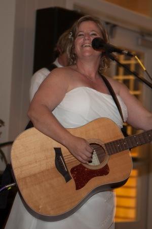 Alicia Singing at wedding